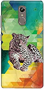 The Racoon Lean printed designer hard back mobile phone case cover for Gionee S6S. (A Leopard)