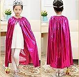 Matissa Cape und Krone Set Kostüm für Erwachsene und Kinder König Königin Prinz Prinzessin Umhang und Krone Cosplay Unisex Kostümfest (Prinzessin, Rosa)