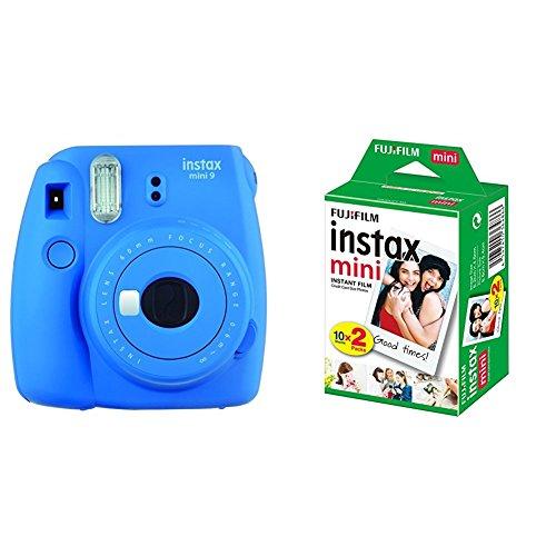 Fujifilm Instax Mini 9 Kamera, kobalt blau mit Film