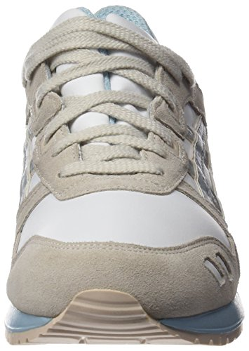 Asics H6u9l, Chaussures Femme Bianco (White/Light Grey)