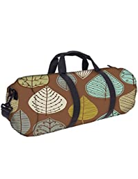 Snoogg Colorful Leaves Brown Gym Bag, Sports Duffel Bag, Fitness Workout Yoga Bag For Men Women With Compartment