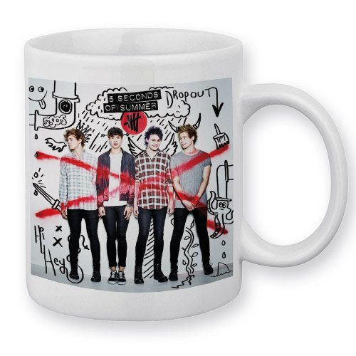 Mug 5 Seconds Of Summer 5 SOS Album (A) - Fabriqué en France - Chamalow Shop