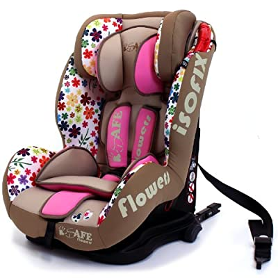 iSafe Isofix DUO TRIO PLUS ISOFIX + TOP TETHER CAR SEAT Carseat Car Seat Group 1 2 3 9kg - 36kg - Flowers  Dorel UK Limited