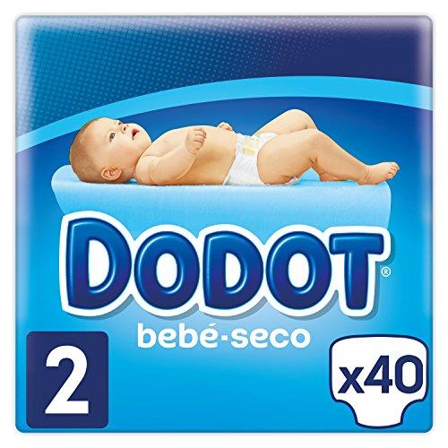 Dodot - Pañales con Canales de Aire Bebé-Seco, Talla 2, para Bebes de 4-8 kg - 40 Pañales