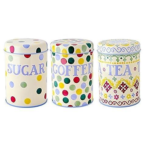 Emma Bridgewater - Polka Dots- Set of 3 Storage Caddies / Tins / Canisters