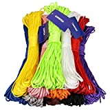 CAMTOA 100ft 7 Strand Nylon Paracord Cord Parachute Rope Lanyard Desert Rope for Camping Hiking Travelling Outdoor & Home Uses Black