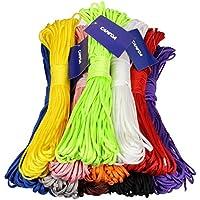 CAMTOA 100ft 7 Strand nylon Paracord corda del cavo paracadute Deserto Cordino per caccia pesca Viaggiare Usi Outdoor & casa nero