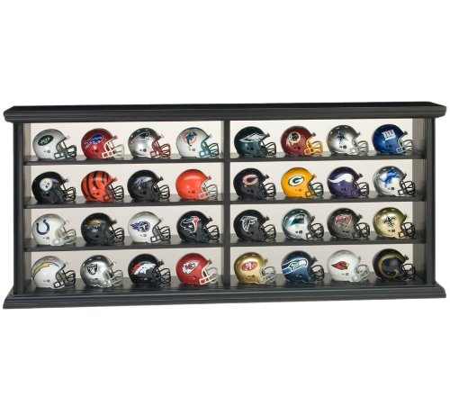 Riddell NFL Revolution Pocket Pro League Helm Set in Holz Display