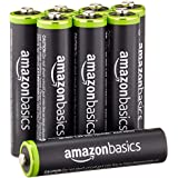 AmazonBasics Lot de 8 piles rechargeables Ni-MH Type AAA 1000 cycles à 800 mAh/minimum 750 mAh 1,2 V (design variable)