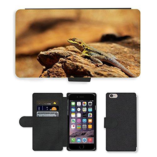 Just Mobile pour Hot Style Téléphone portable étui portefeuille en cuir PU avec fente pour carte//m00139761Lézard Dragon Reptile Wildlife//Apple iPhone 6Plus 14cm
