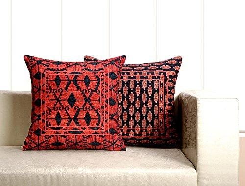 Digital bedruckt 100% Baumwolle 240gsm 18x 18Kissen Set von 2, Vögel und Blumen -