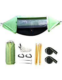 3 In 1 Hammock Tent And Camping Hammock Shelter, Mosquito Net Outdoor Hammock Travel Bed Windproof, Anti-Mosquito...