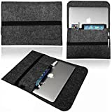 Funda para portátil de 13'' NXET®, Notebook New MacBook Air/Pro/Pro Retina/Pro 2016 con bolsillos protectores de 33 cm para iPad Pro/Acer/Lenovo with iPhone/iPad. gris oscuro 13 pulgadas