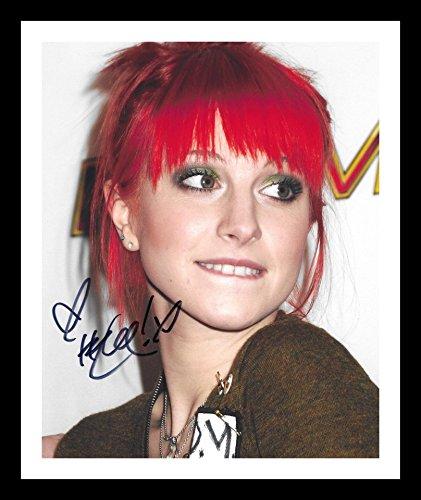 Hayley Williams - Paramore Autogramme Signiert Und Gerahmt Foto (Hayley Williams Red)
