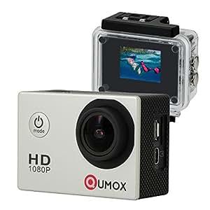 QUMOX Actioncam SJ4000, Action Sport camera Camera Waterproof, Full HD, 1080p Video, Helmet camera, Silver