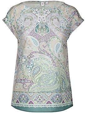SEIDENSTICKER Damen Bluse Schwarze Rose 1/2-Arm Bügelleicht Fashion-Bluse Ohne Manschette