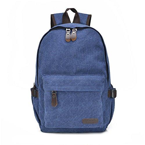 Beiläufige Unisexsegeltuchrucksack Student Rucksack mit großer Kapazität Tasche Computer 2