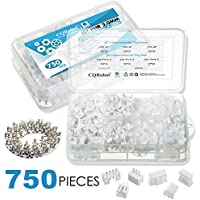 CQRobot 750 Pieces 2.0mm JST-PH JST Connector Kit. 2.0mm Pitch Female Pin Header, JST PH - 2/3 / 4 Pin Housing JST Adapter Cable Connector Socket Male And Female, Crimp Dip Kit.