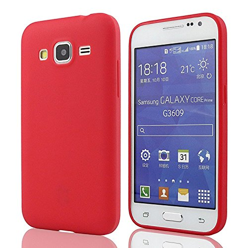 mStick Candy Color Ultra Slim Soft Silicon Back Cover For Samsung Galaxy Core Prime Red- Pink  available at amazon for Rs.99