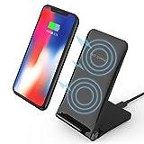 YaCool faltender kabelloses aufladen Ladestand, Qi schneller Wireless Charging für iPhone X 8 8 plus Samsungs-Galaxie S7 S8 S9 plus Note 6 7 8 und andere Geräte