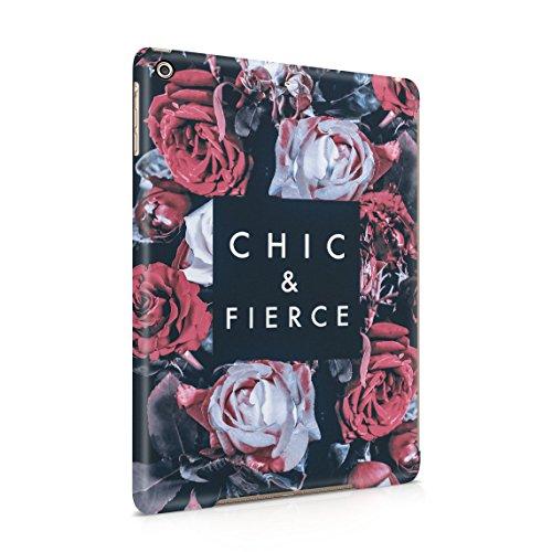 Paisley-snap (Vintage Chic & Fierce Passion Wild Rot Rose Blossoms Blume Pattern Dünne Rückschale aus Hartplastik für iPad Air 1 Tablet Hülle Schutzhülle Slim Fit Case Cover)