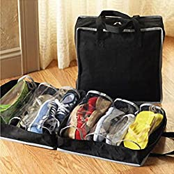 CPEX Portable Shoes Travel Storage Bag Organizer Tote 6 Shoe Pockets