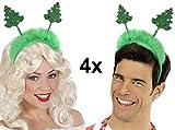 Party-Teufel 4 Stück Wackelnde Weihnachtsbaum Haarreifen Weihnachtshut Nikolaus Weihnachtsfeier Nikolausfeier Weihnachtsmarkt