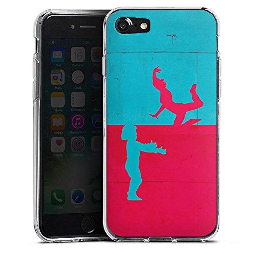 Apple iPhone X Silikon Hülle Case Schutzhülle Paar Liebe Abstrakt Silikon Case transparent
