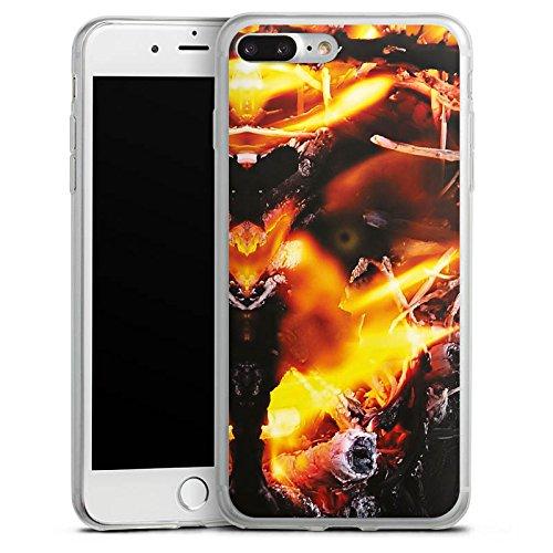 Apple iPhone 8 Slim Case Silikon Hülle Schutzhülle Feuer Dämon Armageddon Silikon Slim Case transparent