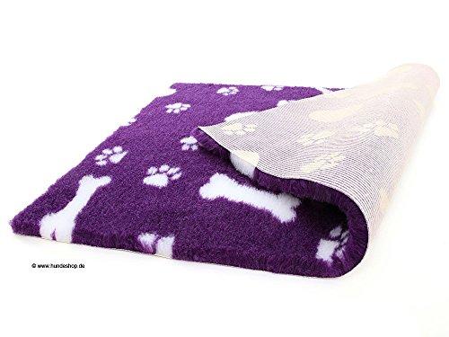 Original Vetbed™ Isobed SL purple Hearts, Paws & Bones (100 x 75 cm)