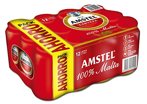Amstel Beer - Pack of 12 Cans x 330 ml - Total: 3,96 L