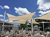 Sunny Cloud 3x4m Rechteck Cremeweiß Anti-UV Sonnensegel - Perfekt für Außenterrasse, Garten, Swimming Pool -