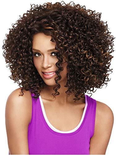 Pelucas cortas rizadas afro Kinky rizadas mujer negra