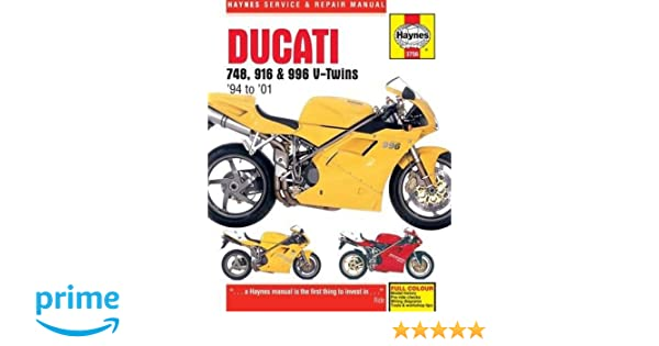 ducati 748, 916 and 996 4-valve v-twins 1994 - 2001 (haynes service and  repair manual): amazon co uk: anon: 9780857339577: books