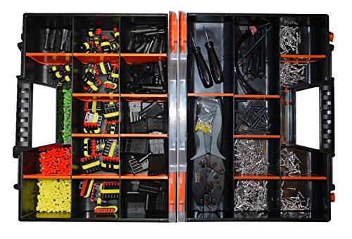 AMP Superseal 1-polig bis 6-polig Sortiment Box Crimpzange Ausstech- und Entriegelungswerkzeug Steckverbinder Zubehör Elektrik KFZ