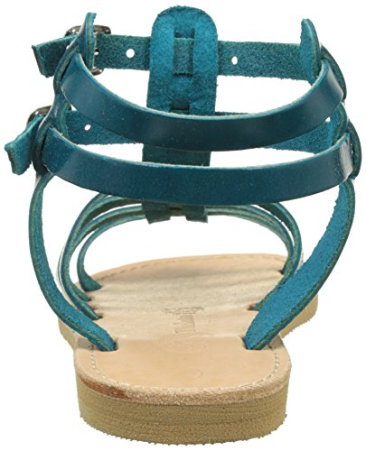 THELUTO Coralie, Spartiates Fille Bleu (Petrol)