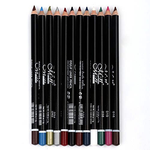 Lamavido Eyeliner 12 Colore degli occhi ombrav Pencil cosmetico di trucco Set