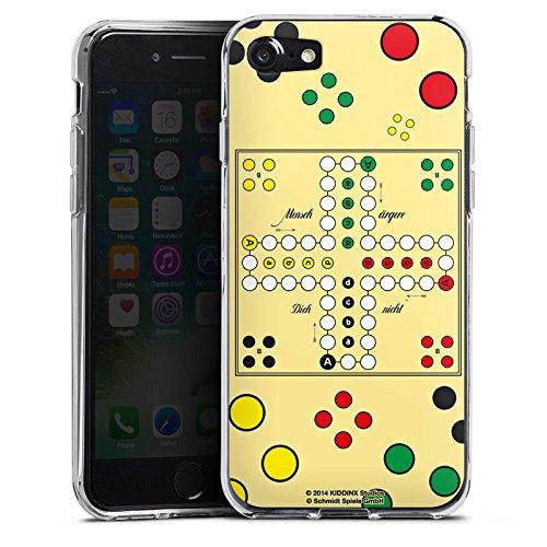 Apple iPhone X Silikon Hülle Case Schutzhülle Mensch ärger Dich nicht Spiel Spielbrett Silikon Case transparent