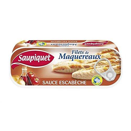 Saupiquet Filets maquereaux sauce escabèche 169g - ( Prix Unitaire ) - Envoi Rapide Et Soignée