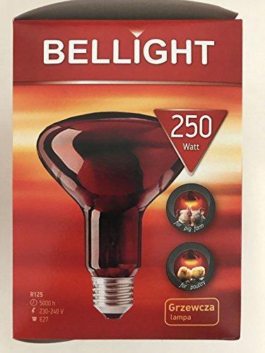 2 Stück Bellight Infrarotlampe R125 250W E27 Tierzucht 230-240V 5000h 250 Watt NEU & OVP