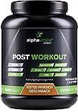 POST WORKOUT Shake mit Maltodextrin, Whey Protein, BCAA, Creatin, L-Glutamin, Magnesium uvm. - 1500g - Eistee Pfirsich - Die wichtigsten Nährstoffe nach deinem Workout!