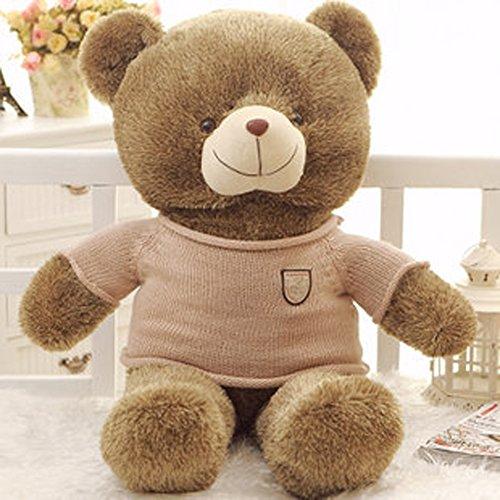 VERCART knuddeliger Plüschtiere Plüsch Teddybär xxl ich liebe dich teddy Teddybär-Spielzeug-Puppe mit Liebes-Strickjacke (Strickjacke Seide Leichte)