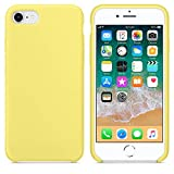 Funda para iPhone 7/8 Carcasa Silicona Suave Colores del Caramelo con Superfino Pelusa Forro,Anti-rasguños Teléfono Caso para Apple iPhone 7/8 (iPhone 7/8, Amarillo limon)