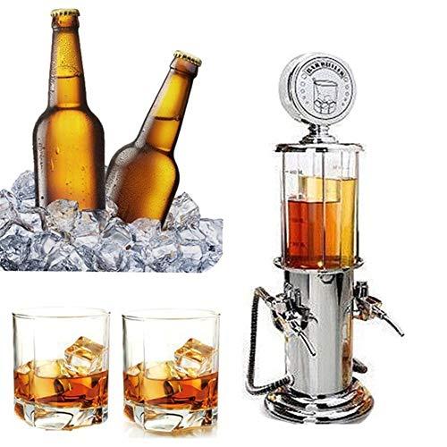 LARRY SHELL Mini Beer Pourer Gas Pump Beverage Liquor Dispenser Bar-spezifische Getränkemaschine Portable geeignet für Weißwein Whiskey Wodka Große Geschenkidee Gas Pump Dispenser