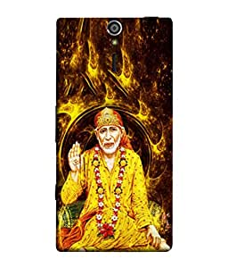 PrintVisa Designer Back Case Cover for Sony Xperia SL :: Sony Xperia S :: Sony Xperia SL LT26I LT26ii (Sai Baba In Yellow Clothes)