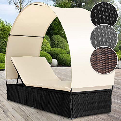 Polyrattan Sonnenliege | für 1 Person inkl. Kissen und Sitzauflage mit Rückenlehnen und...