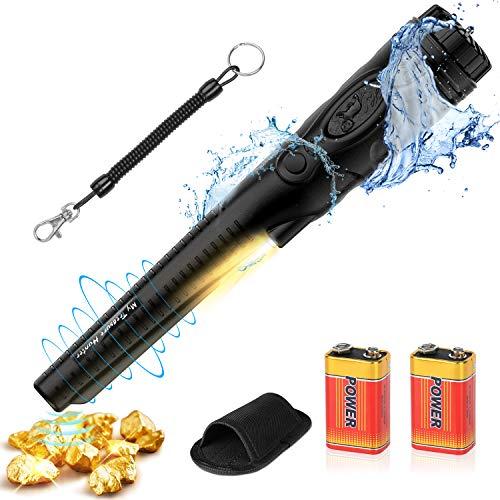 POVO Detectores de Metales Pinpointer IP68 Impermeable 5-10 Metros Bajo el Agua con 2 Pilas Naranja...