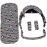 Baby Monsters Pack Tejido Para Silla Compact + Colchoneta - Diseño Wings + Regalo de un bolso organizador -Danielstore