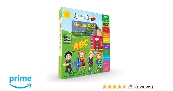 Buy Genius Kids Worksheets for Ukg - Set of 8 Workbooks for UKG, KG ...