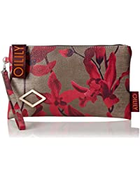 Oilily - Jolly Cosmeticpouch Mhz 4, Carteras de mano Mujer, Rot (Dark Red), 1x13.5x23.5 cm (B x H T)